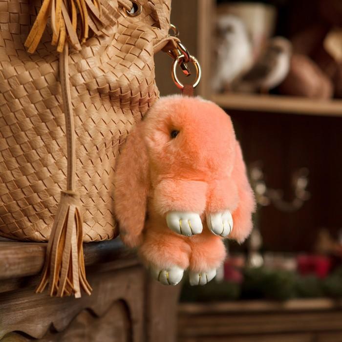Мягкие игрушки Good Mood Кролик-брелок 18 см