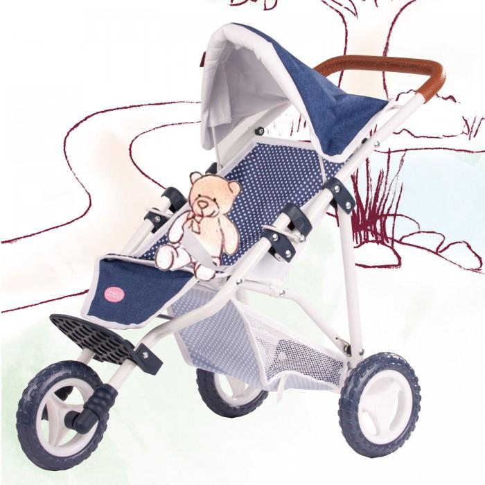Коляска для куклы Gotz трёхколёсная с кожаной ручкой