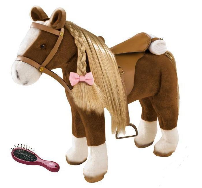 Мягкая игрушка Gotz Лошадь с расчёской 50 см
