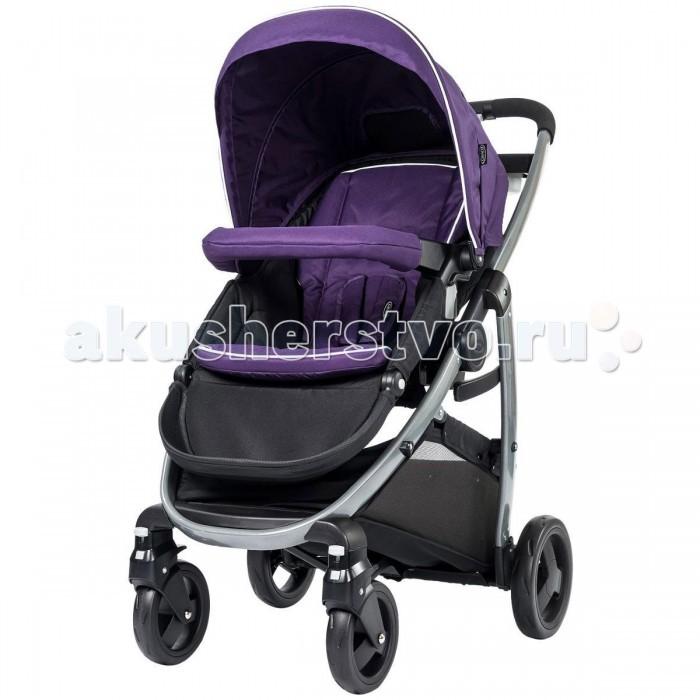 Прогулочная коляска Graco ModesModesУниверсальная и реверсивная четырехколесная прогулочная коляска Graco Modes. Сиденье класса люкс оборудовано мягкими вкладышами, а колеса мягко пружинящую амортизацию - что гарантирует безопасную и комфортную поездку. Подходящая для детей с рождения, коляска включает четырёхпозиционную регулируемую подножку, и таким образом, коляска растет вместе с ребенком. Спинка сиденья имеет 4 положения наклона, включая почти полностью горизонтальное, и в комплект входит муфта для ножек.  Коляска имеет до 6 вариантов использования сиденья, поскольку они является реверсивным, может быть установлено как лицом к родителям, так и лицом от них, также трансформируется в лежачую люльку, а также автокресло-переноска может быть установлено на раму без использования сиденья коляски. Таким образом, это второе свидетельство того, что коляска растет вместе с ребенком.  Система складывания одной рукой позволяет освободить вторую руку для того, чтобы держать малыша. А в другой руке сложенную коляску.  Коляска снабжена вместительной корзиной под сиденьем для покупок и игрушек. Пятиточечный ремень безопасности. Передние поворотные маневренные колеса с возможностью блокировки. В комплекте идёт дождевик и муфта для ног. Коляска совместима с автокреслом Graco 0+ SnugFix - продается отдельно.  Продукция сделана из качественных и прочных материалов, соответствующие всем нормам безопасности.   Размеры коляски: 92 x 59 x 110 см. Вес коляски: 10.5 кг.<br>