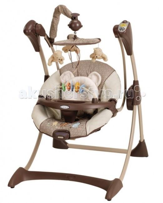 Электронные качели Graco SilhouetteSilhouetteЭлектронные качели Graco Silhouette   Особенности:  Максимальная нагрузка: до 9 кг  разбираются для хранения  очень удобное сиденье  4 позиции наклона сиденья  поддержка для головы  игрушки на крутящейся вертушке над головой ребенка съемный столик для того, чтобы малыш мог легко заходить/выходить из качелей (игрушек на подносе нет - для всех расцветок)   2 скорости вибрации сиденья  мягкая музыка с таймером.  Для работы кресла-качели нужно 5 батареек LR 20, 1,5 V.  Четыре батарейки нужны для работы качания и музыки и одна для вибрации.   Внимание! В зимнее время перед использованием качели обязательно должны нагреться до комнатной температуры. Пожалуйста, подождите несколько часов, иначе есть возможность повредить электронный блок!<br>