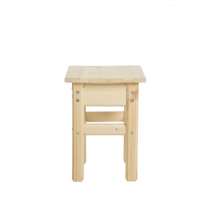 Детские столы и стулья Green Mebel Деревянный табурет 30х30х35 см