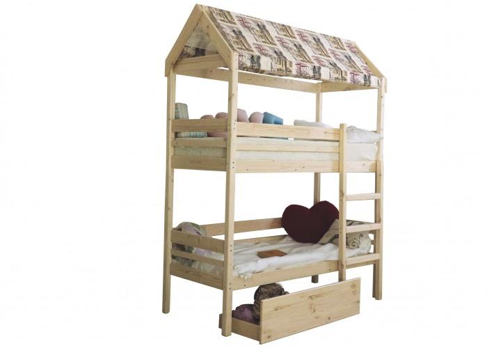 Кровати для подростков Green Mebel двухъярусная домик Baby-house 70х160 см