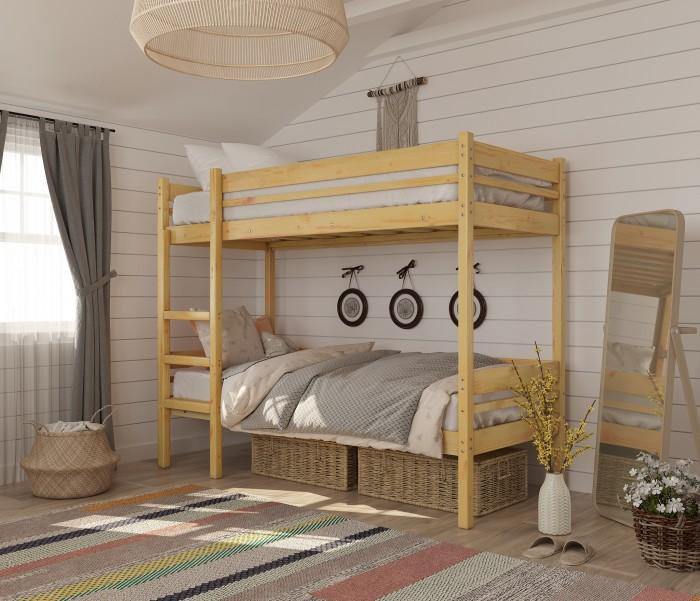 Купить Кровати для подростков, Подростковая кровать Green Mebel двухъярусная Дональд 80х190 см