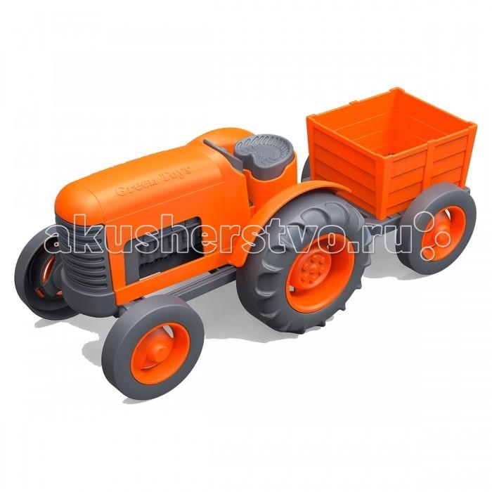 Green Toys ТракторТракторGreen Toys Трактор создан специально для малышей.  Особенности: Колёса крутятся, прицеп снимается.  Без металлических осей.  Все игрушки Green Toys производятся только в США, в Калифорнии, на фабриках, принадлежащих компании.  Компания выпускает свои игрушки только из переработанных материалов.  Все игрушки сделаны из переработанного пластика, а упаковочные картонные коробки, сделаны из переработанной бумаги.<br>