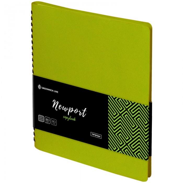 Тетради Greenwich Line Тетрадь лайт на гребне Newport А5 клетка (80 листов) на гребне волны dvd