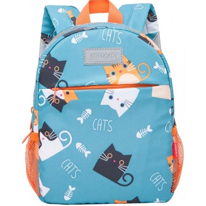 Купить Школьные рюкзаки, Grizzly Рюкзак Коты с рыбой
