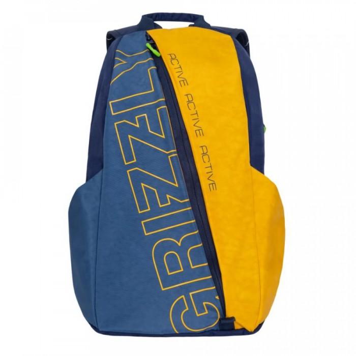 Школьные рюкзаки Grizzly Рюкзак молодежный RQ-910-1 рюкзак grizzly rq 905 1