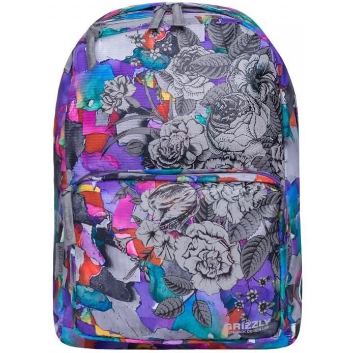 Школьные рюкзаки Grizzly Рюкзак школьный Акварель