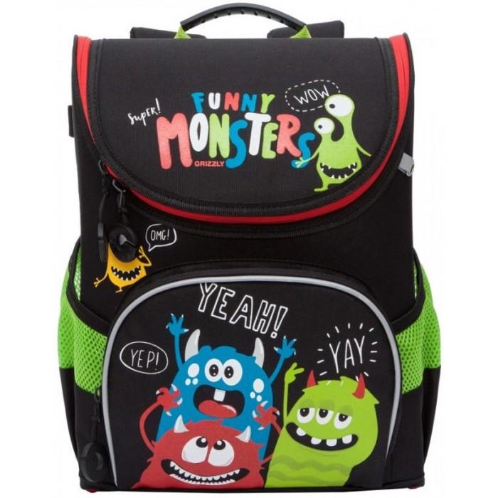 Картинка для Школьные рюкзаки Grizzly Рюкзак школьный Funny monsters