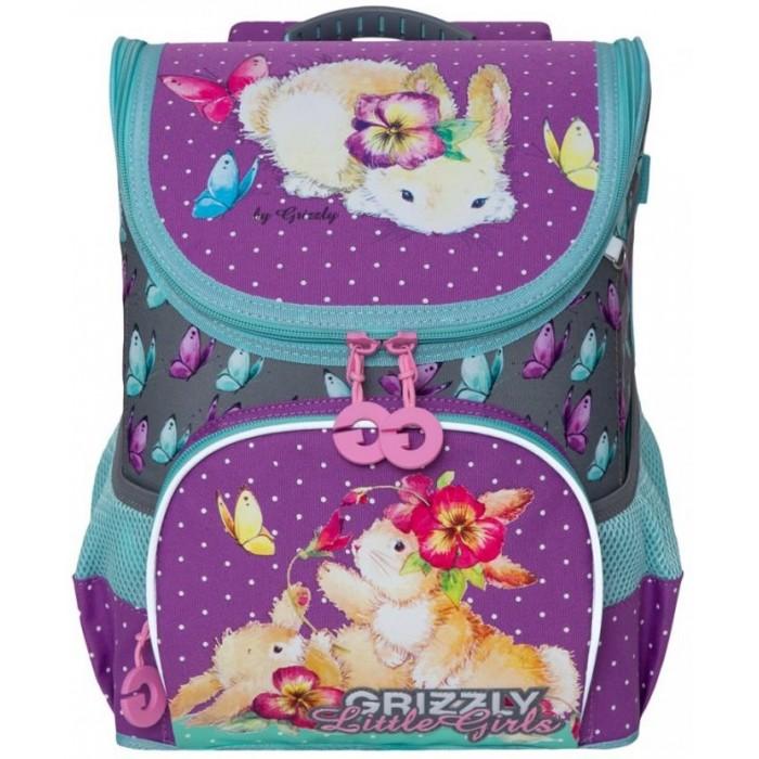 Школьные рюкзаки Grizzly Рюкзак школьный RA-981-1 школьные рюкзаки grizzly рюкзак школьный ra 970 4