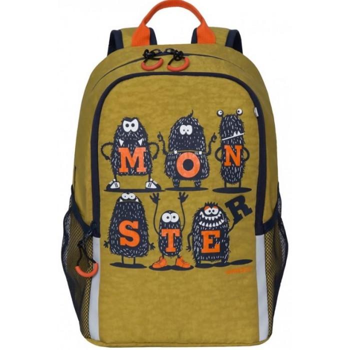 Школьные рюкзаки Grizzly Рюкзак школьный RB-051-4 рюкзак discovery 46х32х14 50см рельефная анатомическая спинка тёмно синий с серым