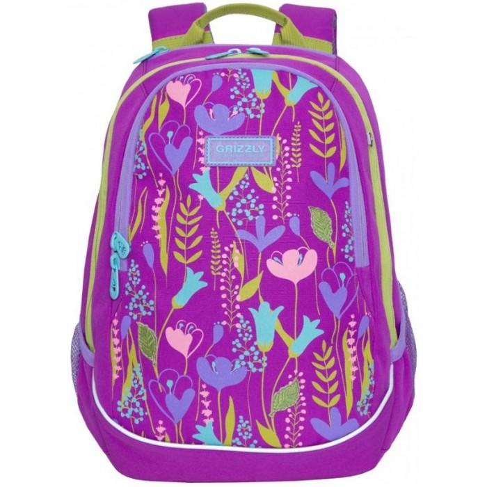Школьные рюкзаки Grizzly Рюкзак школьный RD-041-1 рюкзак discovery 46х32х14 50см рельефная анатомическая спинка тёмно синий с серым