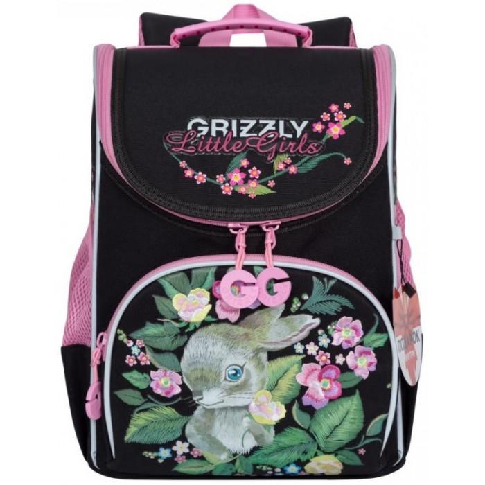 Школьные рюкзаки Grizzly Рюкзак школьный с мешком RA-973-3 школьные рюкзаки grizzly рюкзак школьный ra 970 4