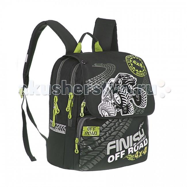 Школьные рюкзаки Grizzly Ранец RA-544-3 с мешком для обуви рюкзаки grizzly рюкзак
