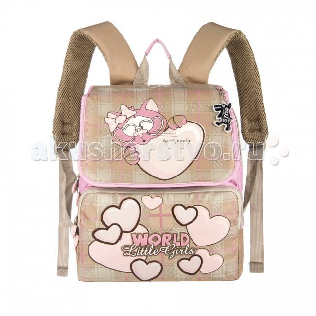 Школьные рюкзаки Grizzly Ранец RA-545-2 с мешком для обуви рюкзаки grizzly рюкзак