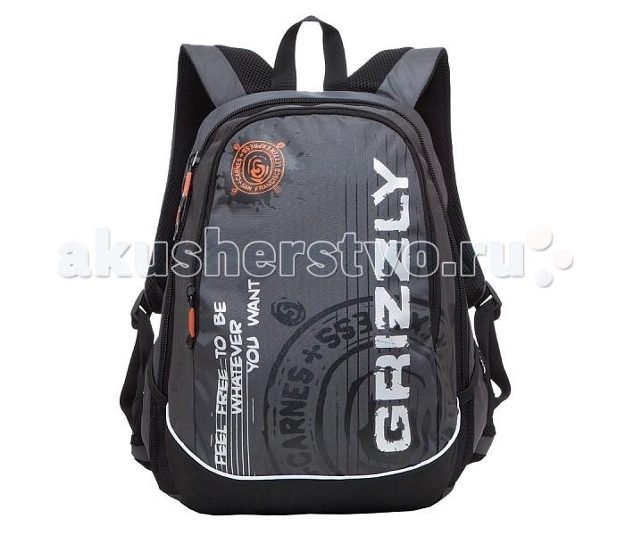 Развитие и школа , Школьные рюкзаки Grizzly Рюкзак RU-601-3 арт: 225688 -  Школьные рюкзаки