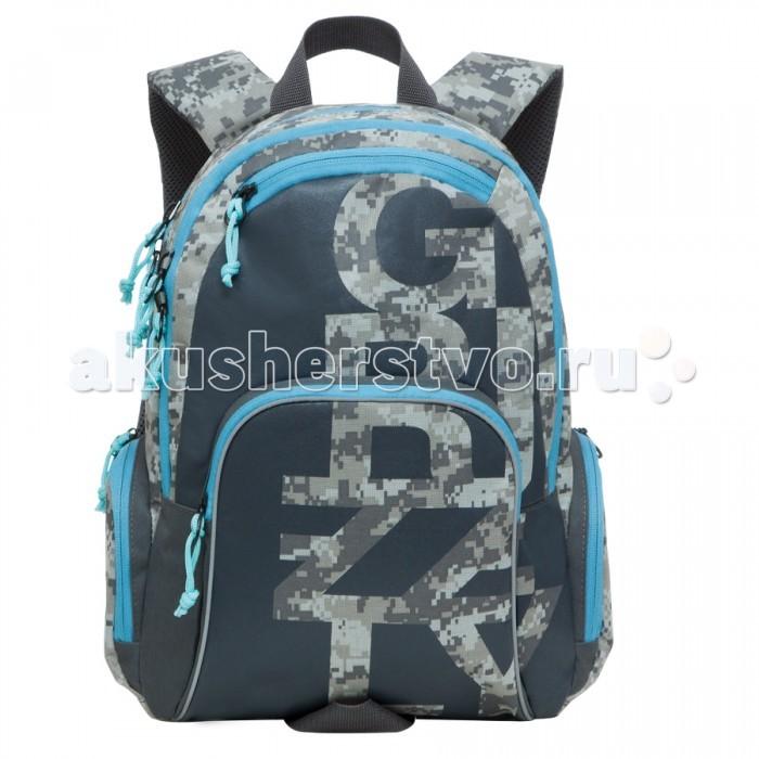 Grizzly Рюкзак RU-604-1Рюкзак RU-604-1Grizzly Рюкзак RU-604-1 выполнен из очень легкой, эластичной ткани высокой прочности. Она устойчива к износу, хорошо стирается и быстро сохнет, сохраняя свою форму.  Особенности: рюкзак молодежный два отделения карман на молнии на передней стенке  объемный карман на молнии на передней стенке объемные боковые карманы на молнии внутренний карман-пенал для карандашей  внутренний подвесной карман на молнии жесткая анатомическая спинка дополнительная ручка-петля укрепленные лямки брелок для ключей.<br>
