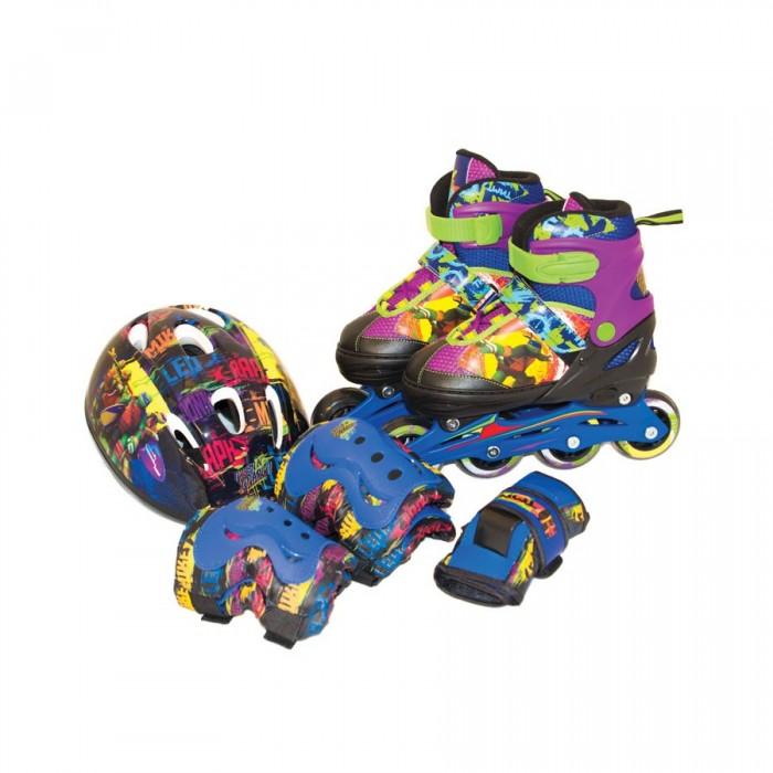 Детские ролики Gulliver Sport Набор роликовые коньки + защита TMNT
