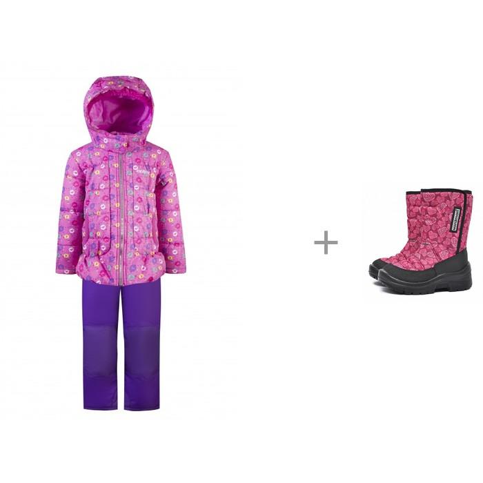 Gusti Комплект для девочки (куртка, полукомбинезон) GWG 5322 и Nordman Lumi Сапоги детские на вертикальной липучке Сердечки