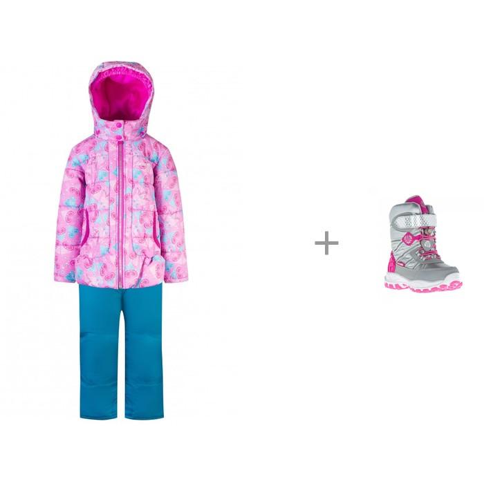 Gusti Комплект для девочки (куртка, полукомбинезон) GWG 5334 и Kakadu Сапоги для девочки