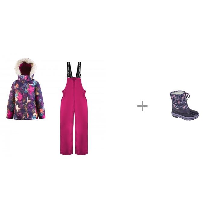 Gusti Комплект для девочки (куртка, полукомбинезон) GWG 5590 и Mursu Сапоги для девочки 211413 фото