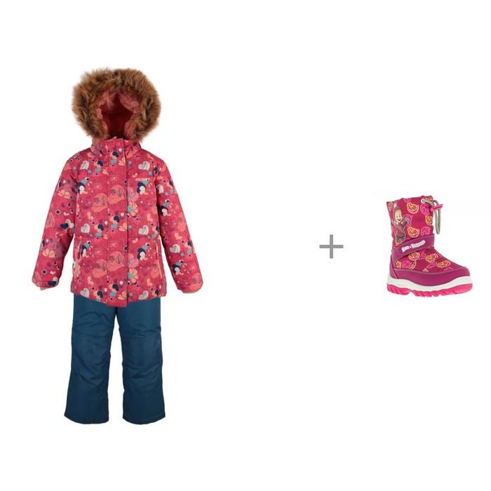 Gusti Комплект для девочки (куртка, полукомбинезон) GWG5804 и Маша и Медведь Сапоги для девочки 6878B