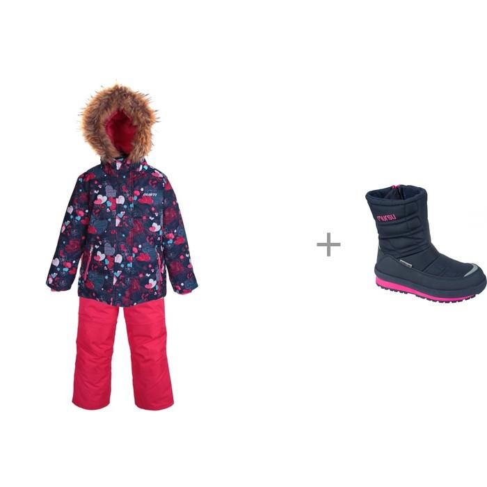 Gusti Комплект для девочки (куртка, полукомбинезон) GWG5804 и Mursu Сапоги для девочки 211604