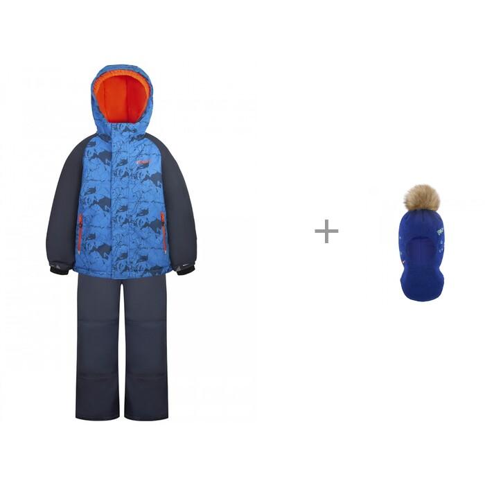 Gusti Комплект (куртка, полукомбинезон) GW20BS245 Синий р-ры 92-110 и шлем-шапка AC1051B для мальчика