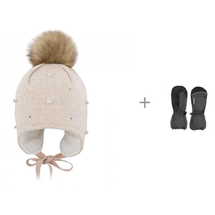 Купить Шапки, варежки и шарфы, Gusti Шапка для девочки AC1071G и варежки зимние GW20UA068