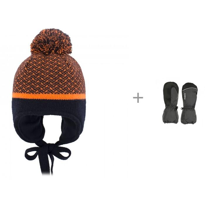 Купить Шапки, варежки и шарфы, Gusti Шапка для мальчика AC1060B и варежки зимние GW20UA068