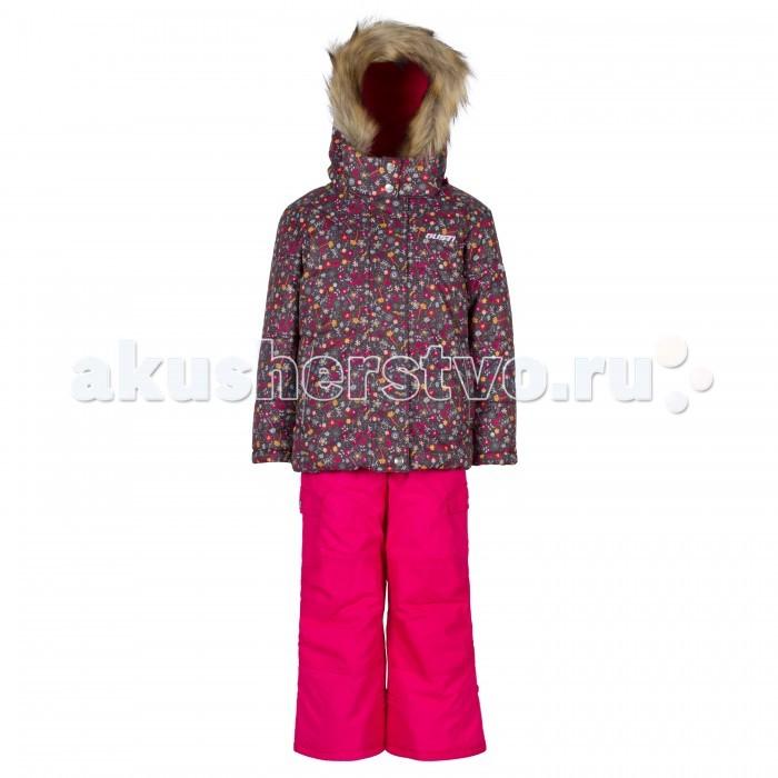 Gusti Boutique Комплект (куртка, полукомбинезон) GWG 3297Boutique Комплект (куртка, полукомбинезон) GWG 3297Gusti Boutique Комплект (куртка, полукомбинезон) GWG 3297  Зимний костюм Gusti состоит из куртки и полукомбинезона. В нем ребенку тепло и удобно независимо от того, какая температура на улице. Такая верхняя одежда – идеальный вариант для суровой зимы с сильными морозами.  Ткань верха куртки: Твил ( Twill )- мембрана с коэффициентом водонепроницаемости 5000 мм и коэффициентом паропроницаемости 5000 г/м2, одежда ветронепродуваемая. Благодаря тонкому полиуретановому напылению изнутри не промокает даже при сильной влаге, но при этом дышит (защита от влаги не препятствует циркуляции воздуха). Плотность ткани Т190 обеспечивает высокую износостойкость.  Утеплитель: Тек-Полифилл (Tech-Polyfil) - 280г/м2, силиконизированый полиэстер изготовленный по новейшим технологиям,  удерживает тепло при температуре до -30 С. Очень мягкий, создающий объем для сохранения тепла, более плотный на груди и спине (280г/м2) и менее плотный на рукавах (170г/м2). Высокоэффективный, обладающий повышенной устойчивостью к сжатию (после стирки в стиральной машине изделие достаточно встряхнуть), обеспечивающий хорошую вентиляцию, обладающий прекрасным, теплоизолирующими свойствами синтетический материал. Главные преимущества Тек-Полифила – одежда более  пушистая на ощупь и менее тяжелое по весу.  Подкладка: Высокотехнологичный флис COOLQUICK. Специальное кручение нитей позволяет ткани максимально впитывать влагу и увеличивать испаряемость с поверхности, т.е. выпустить пар, но не пропускает влагу снаружи, что обеспечивает комфорт даже при высоких физических нагрузках. Этот материал ранее был разработан специально для спортсменов, которые испытывали сильные нагрузки во время активного движения, а теперь принес комфорт и тепло в нашу повседневную жизнь.  Это особенно важно для детей, когда они гуляют на свежем воздухе, чтобы тело всегда оставалось сухим и теплым. В этой одежде им будет тепло в теч