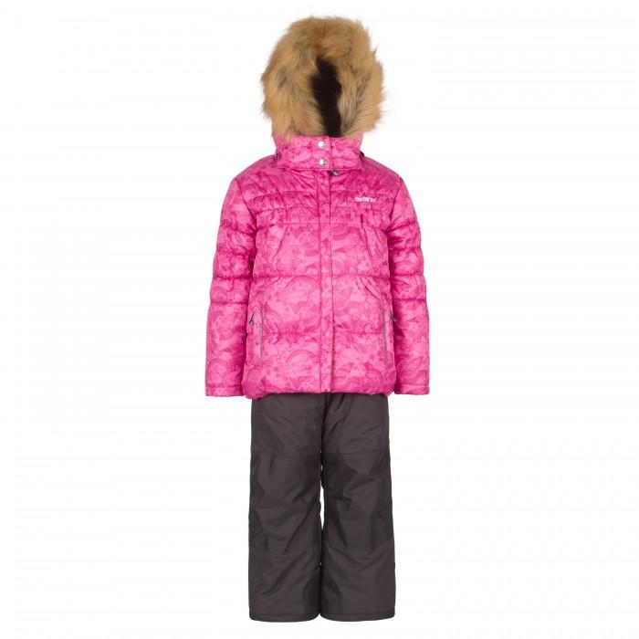 Gusti Boutique Комплект (куртка, полукомбинезон) GWG 3299Boutique Комплект (куртка, полукомбинезон) GWG 3299Gusti Boutique Комплект (куртка, полукомбинезон) GWG 3299  Зимний костюм Gusti состоит из куртки и полукомбинезона. В нем ребенку тепло и удобно независимо от того, какая температура на улице. Такая верхняя одежда – идеальный вариант для суровой зимы с сильными морозами.  Ткань верха куртки: Твил ( Twill )- мембрана с коэффициентом водонепроницаемости 5000 мм и коэффициентом паропроницаемости 5000 г/м2, одежда ветронепродуваемая. Благодаря тонкому полиуретановому напылению изнутри не промокает даже при сильной влаге, но при этом дышит (защита от влаги не препятствует циркуляции воздуха). Плотность ткани Т190 обеспечивает высокую износостойкость.  Утеплитель: Тек-Полифилл (Tech-Polyfil) - 280г/м2, силиконизированый полиэстер изготовленный по новейшим технологиям,  удерживает тепло при температуре до -30 С. Очень мягкий, создающий объем для сохранения тепла, более плотный на груди и спине (280г/м2) и менее плотный на рукавах (170г/м2). Высокоэффективный, обладающий повышенной устойчивостью к сжатию (после стирки в стиральной машине изделие достаточно встряхнуть), обеспечивающий хорошую вентиляцию, обладающий прекрасным, теплоизолирующими свойствами синтетический материал. Главные преимущества Тек-Полифила – одежда более  пушистая на ощупь и менее тяжелое по весу.  Подкладка: Высокотехнологичный флис COOLQUICK. Специальное кручение нитей позволяет ткани максимально впитывать влагу и увеличивать испаряемость с поверхности, т.е. выпустить пар, но не пропускает влагу снаружи, что обеспечивает комфорт даже при высоких физических нагрузках. Этот материал ранее был разработан специально для спортсменов, которые испытывали сильные нагрузки во время активного движения, а теперь принес комфорт и тепло в нашу повседневную жизнь.  Это особенно важно для детей, когда они гуляют на свежем воздухе, чтобы тело всегда оставалось сухим и теплым. В этой одежде им будет тепло в теч