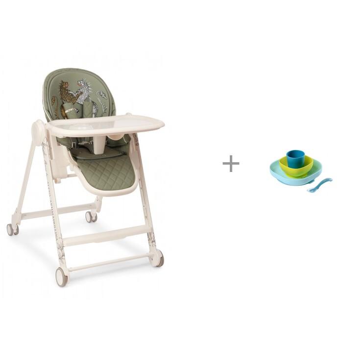 Стульчики для кормления Happy Baby Berny V2 by Akhmadullina и посуда Silicone Meal Set