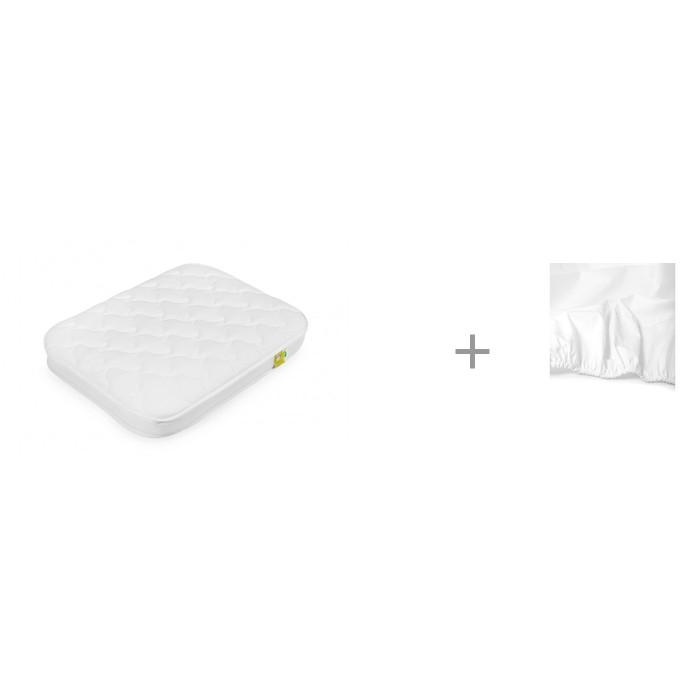 Матрас Happy Baby для люльки-кроватки Mommy 90х70 см и Простыня на резинке 90х70 см