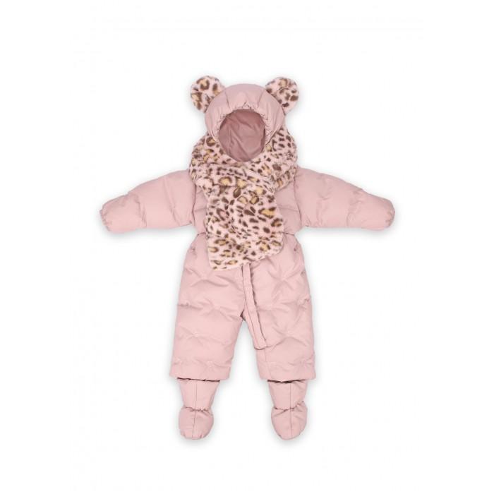 Картинка для Комбинезоны и полукомбинезоны Happy Baby Комбинезон для девочки с меховым шарфом