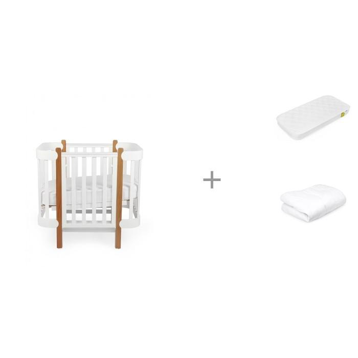 Кроватка-трансформер Happy Baby Mommy Lux с матрасом 140х70 см и одеялом 140х110 см фото