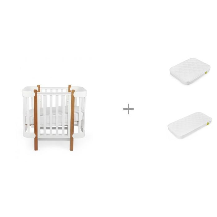 Купить Кроватки-трансформеры, Кроватка-трансформер Happy Baby Mommy Lux с матрасами 90х70 см и 140х70 см