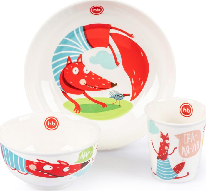 Happy Baby Набор детской посуды Fox фото