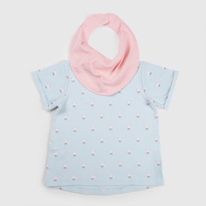 Футболки и топы Happy Baby Набор для девочек (футболка и нагрудный фартук) Городская линейка