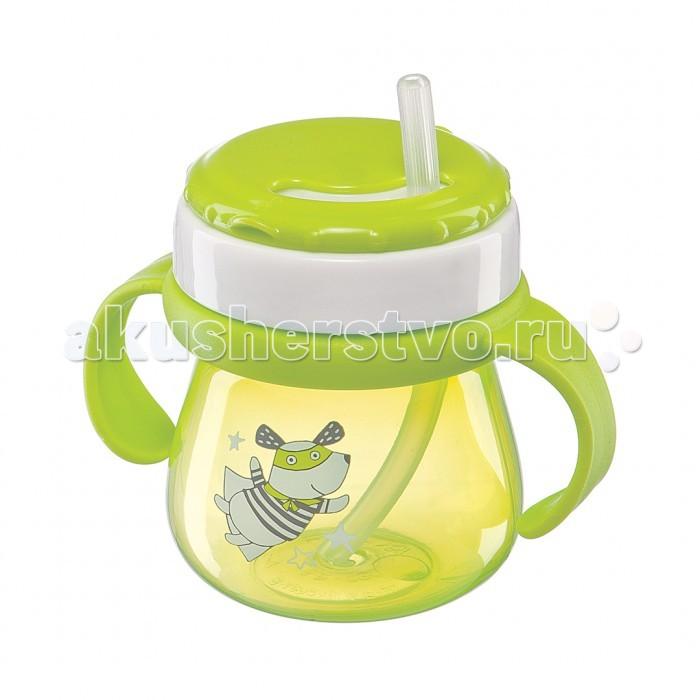 Поильники Happy Baby Straw Feeding Cup с трубочкой и ручками 250 м поильники happy baby straw feeding cup большой с трубочкой 360 мл