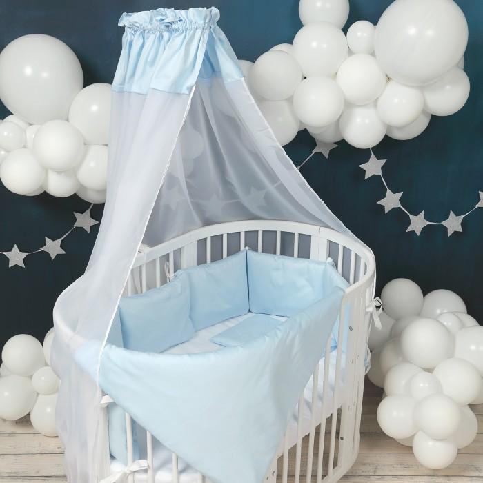 Комплект в кроватку Happy Family Studio Базовый для круглой кроватки (7 предметов) фото