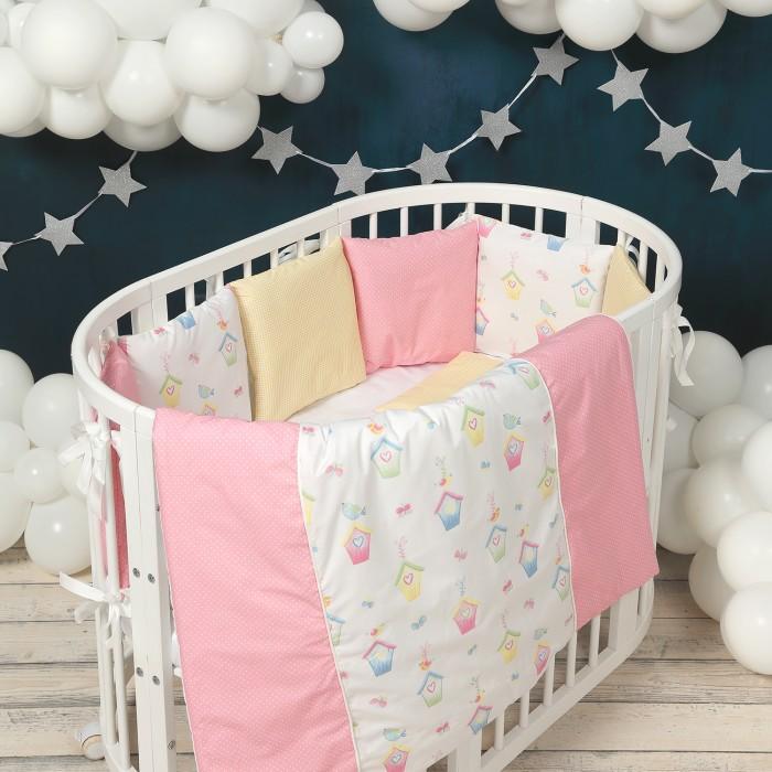 Комплект в кроватку Happy Family Studio Домики (7 предметов)
