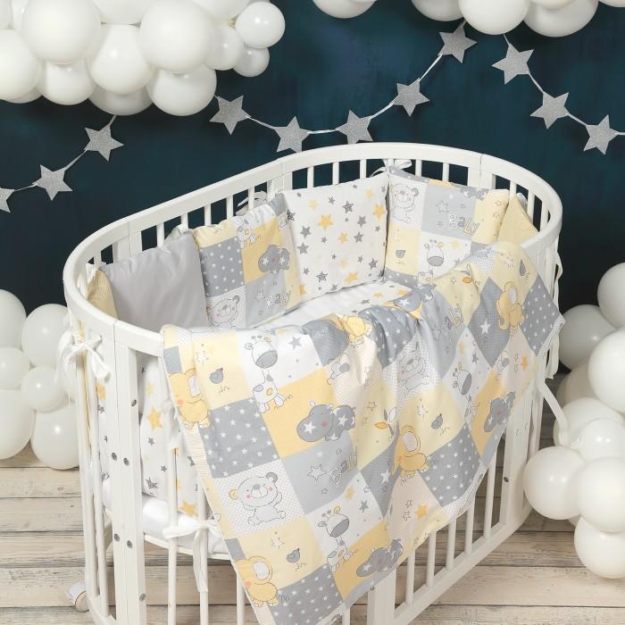 Комплект в кроватку Happy Family Studio Медвежонок и его друзья (7 предметов)
