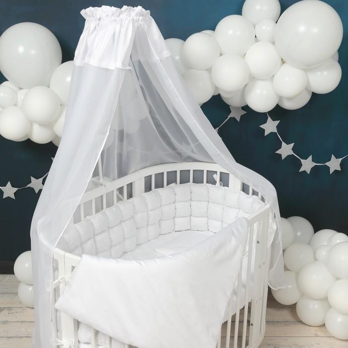 Комплект в кроватку Happy Family Studio Пуфборт Базовый для круглой кроватки (7 предметов) фото