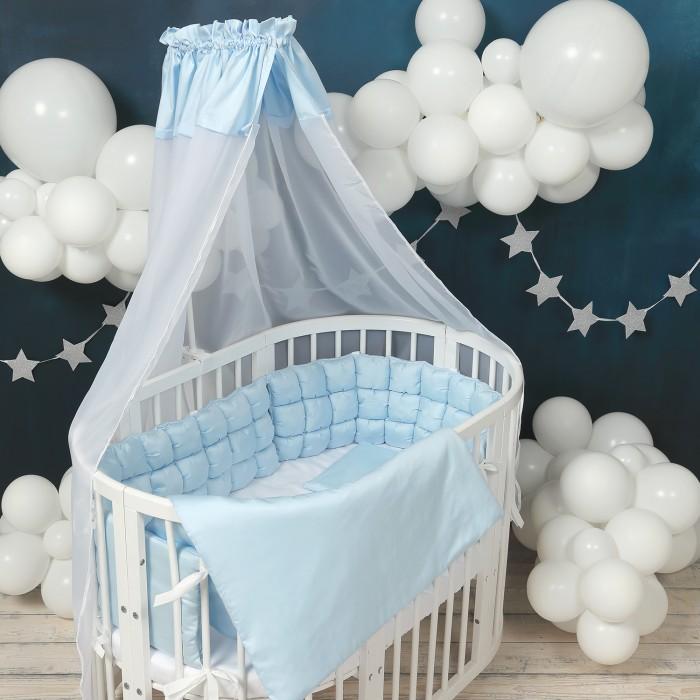 Комплект в кроватку Happy Family Studio Пуфборт Базовый для круглой кроватки (7 предметов)
