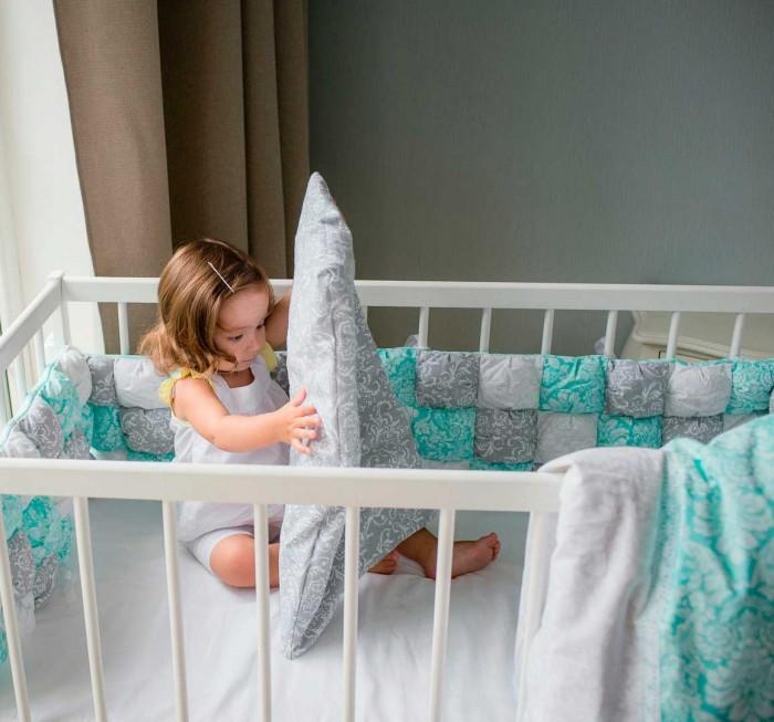 Комплект в кроватку Happy Family Studio Пуфборт Сказка (6 предметов)