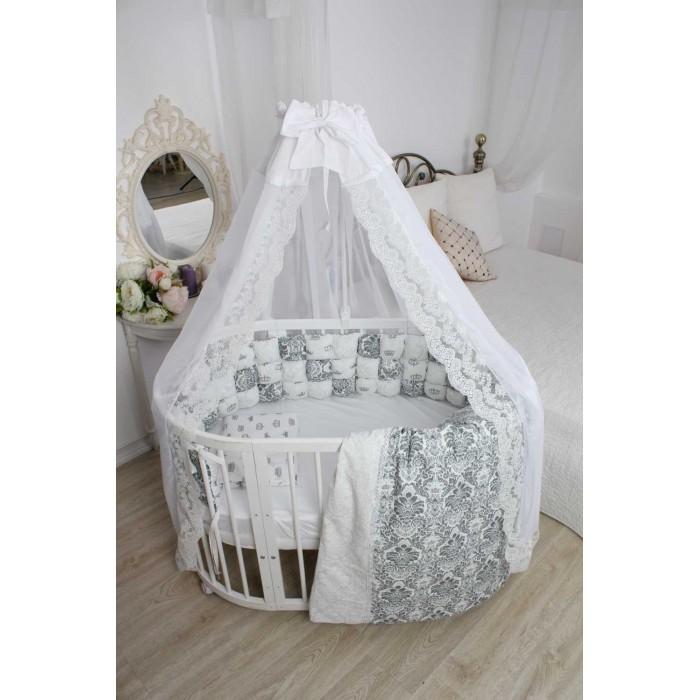 Комплект в кроватку Happy Family Studio Пуфборт Сказка для круглой кроватки (7 предметов)