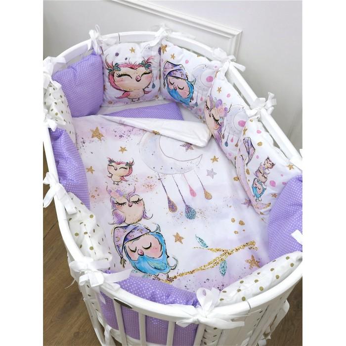 Комплект в кроватку Happy Family Studio Совы (7 предметов)