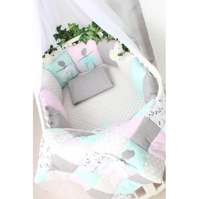 Комплект в кроватку Happy Family Танцующие балерины (6 предметов)